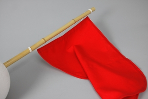 Flag, Dacron, 50x70 cm, Red